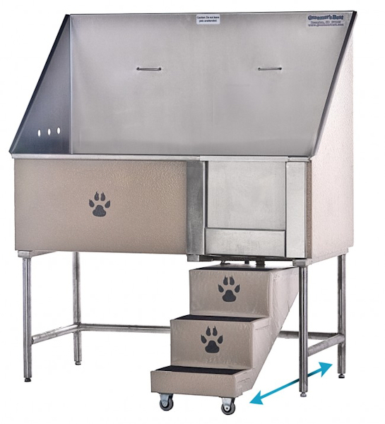 Swing Step Stainless Steel Wash Tubs For Dogs Pets